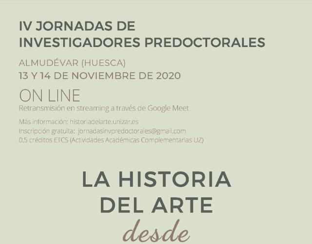 IV Jornadas Predoctorales Historia del Arte