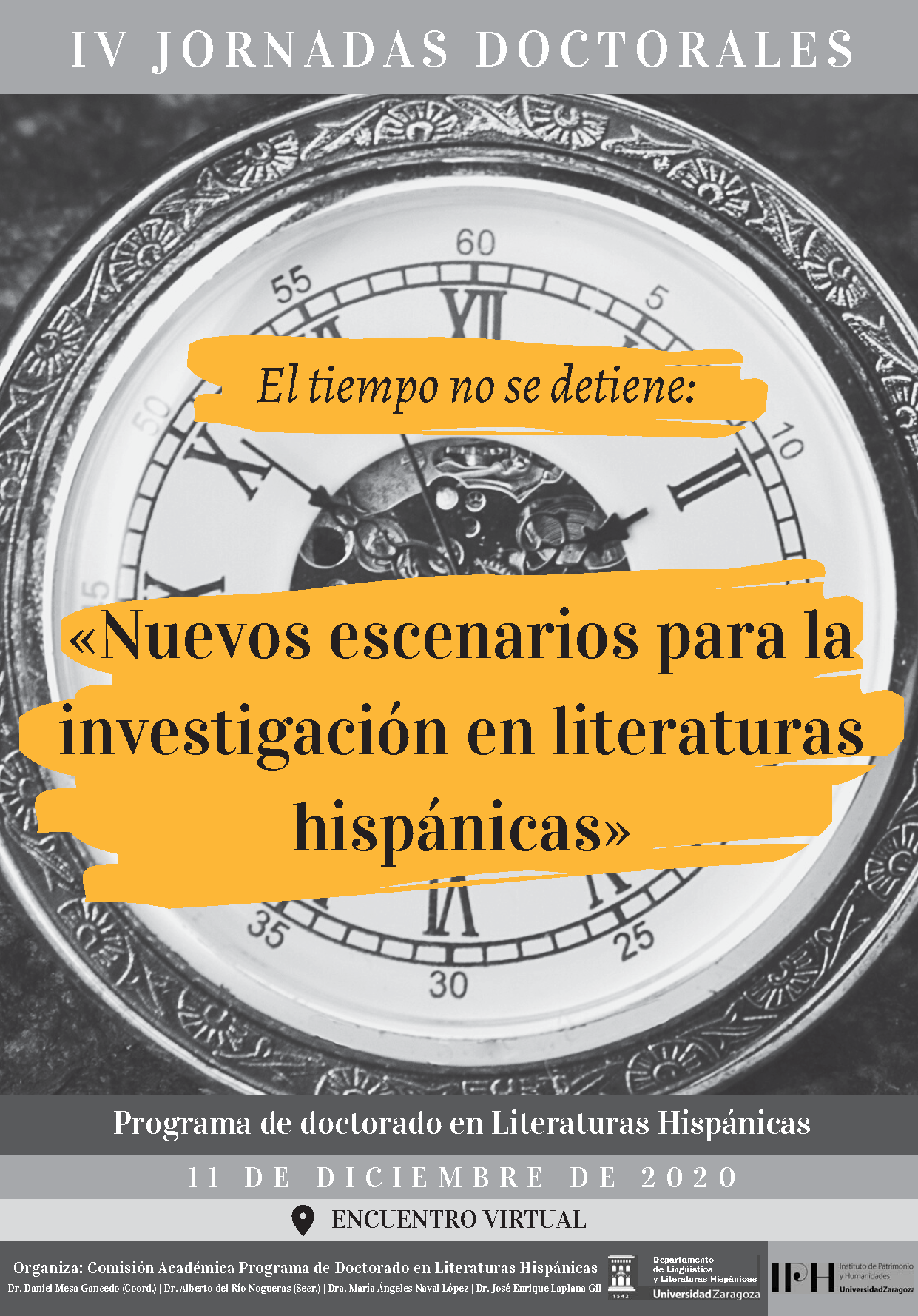 IV Jornadas Doctorales_Literaturas Hispánicas_Cartel