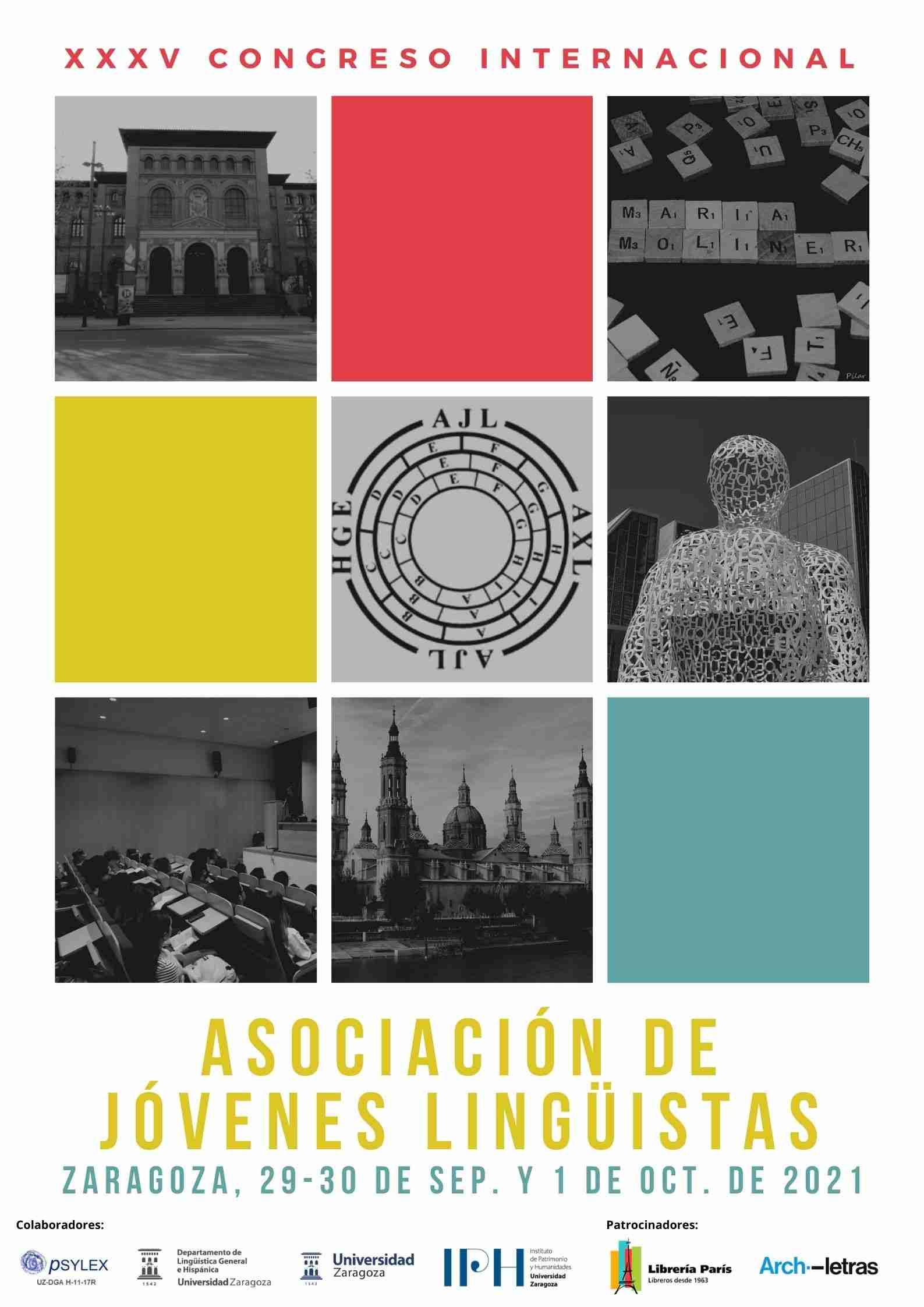 Cartel-XXXV Congreso Internacional de la Asociación de Jóvenes Lingüistas